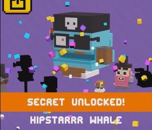 Hipster Whale Shooty Skies Secret Character