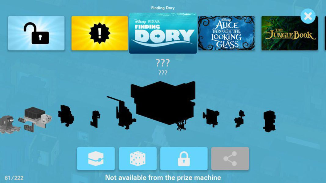finding dory Disney Crossy Road secret characters