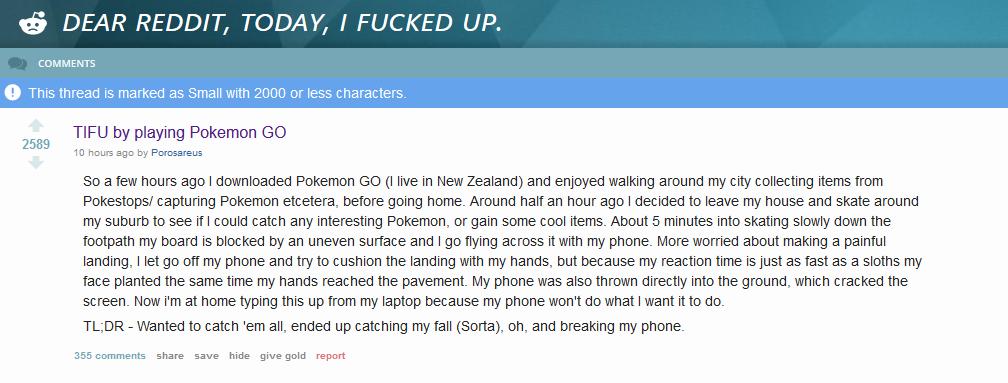pokemon go tifu reddit