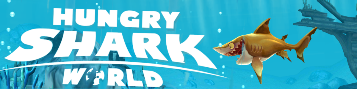 hungry shark world banner