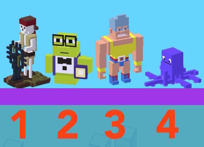 how to get secret characters in crossy road pac man